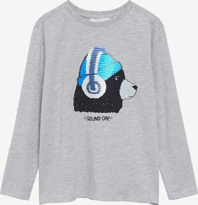 MANGO KIDS Shirt 'FORMULA' in blau / grau / schwarz, Produktansicht
