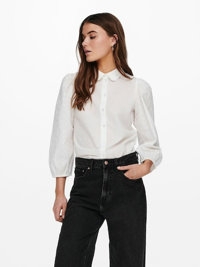 ONLY Blouse 'Emilie' in de kleur Offwhite, Modelweergave