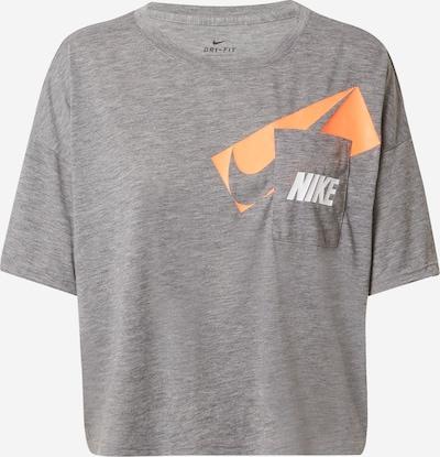 NIKE T-shirt fonctionnel en gris chiné / orange pastel / blanc, Vue avec produit