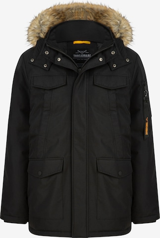 Threadbare Winterjas in Zwart