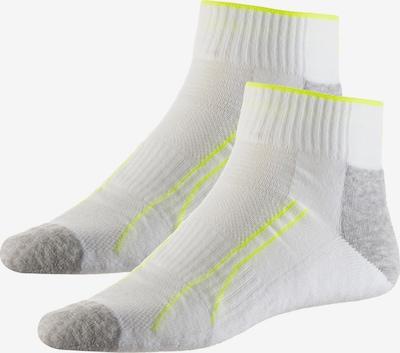 PUMA Socken Pack 'Performance Train Quarter 2er Pack' in hellgelb / hellgrau / weiß, Produktansicht