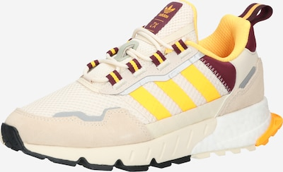 Sneaker low 'ZX 1K BOOST' ADIDAS ORIGINALS pe galben / gri / roz pudră / rubiniu / alb, Vizualizare produs