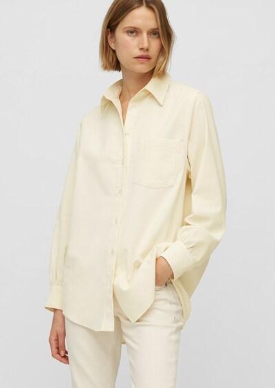 Marc O'Polo Blouse ' aus Feincord ' in de kleur Crème, Modelweergave