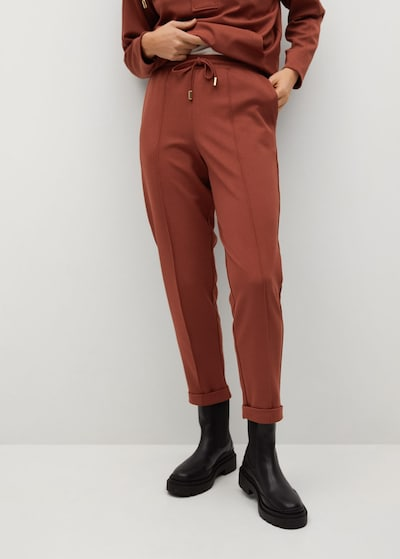 MANGO Pantalon 'Florida' in de kleur Oranjerood, Modelweergave