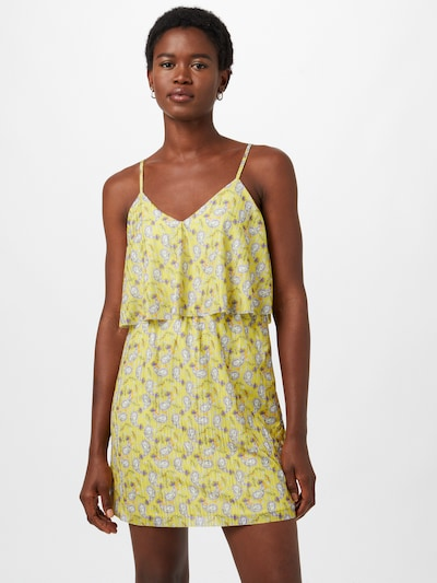 Rochie de vară Trendyol pe galben citron / mov liliachiu / portocaliu pastel / alb, Vizualizare model