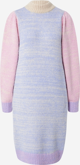 PIECES Knitted dress 'ELISIA' in Light yellow / Lavender / Light purple / Pink, Item view