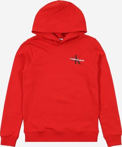 Calvin Klein Jeans Sweatshirt 'SMALL MONOGRAM' in rot, Produktansicht
