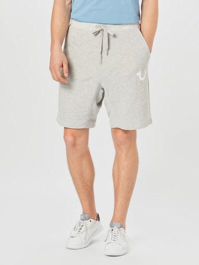 True Religion Spodnie w kolorze nakrapiany szary / białym, Podgląd na modelu(-ce)