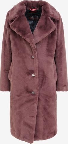 Frieda & Freddies NY Mantel Fake Fur in Braun