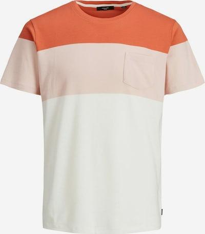 JACK & JONES Shirt in orange / lachs / weiß, Produktansicht