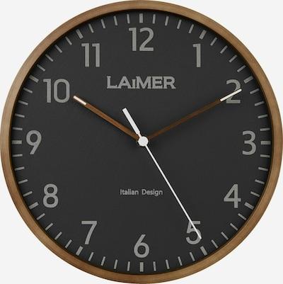 LAiMER Wanduhr in braun / schwarz, Produktansicht