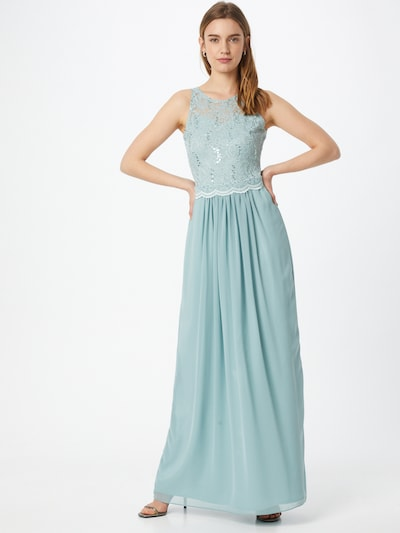 SWING Abendkleid in cyanblau, Modelansicht