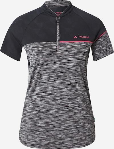 VAUDE Sportshirt 'Altissimo' in graumeliert / hellpink / schwarz / weißmeliert, Produktansicht