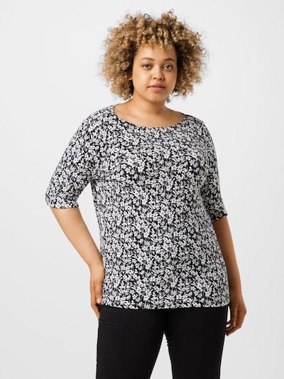 Lauren Ralph Lauren Тениска 'JUDY' в черно / бяло: Изглед отпред