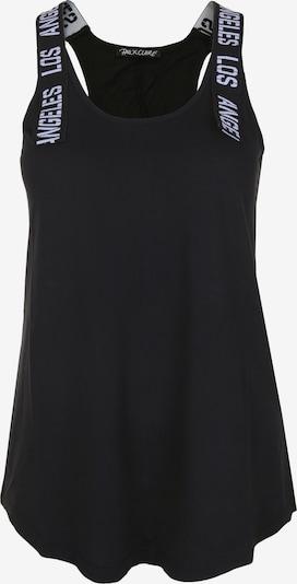 PAUL X CLAIRE Top mit Wording-Träger in schwarz, Produktansicht
