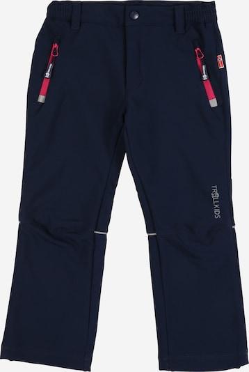 Pantaloni per outdoor 'Fjell' TROLLKIDS di colore navy / magenta, Visualizzazione prodotti