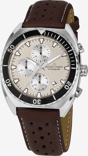 Jacques Lemans Uhr in beige / braun / silber, Produktansicht