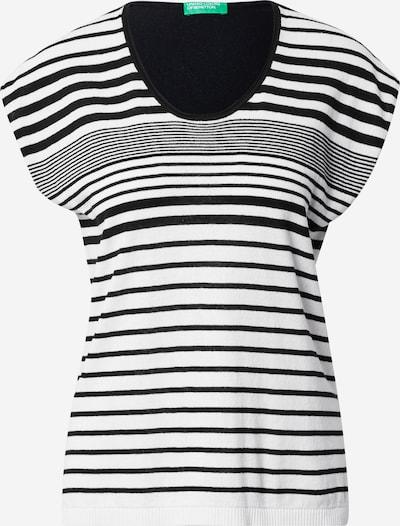 UNITED COLORS OF BENETTON Пуловер в черно / бяло, Преглед на продукта