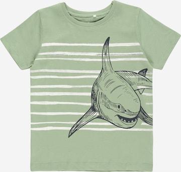 NAME IT T-Shirt 'KALEB' in Grün