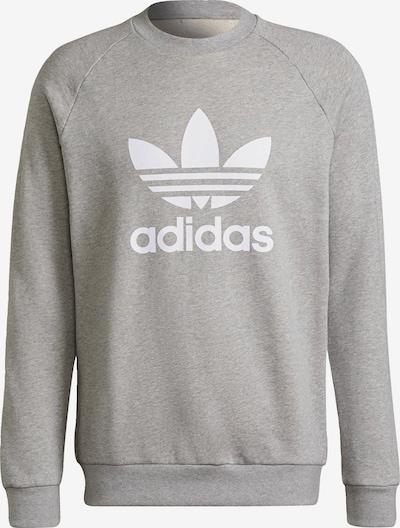ADIDAS ORIGINALS Sweatshirt in graumeliert / weiß, Produktansicht
