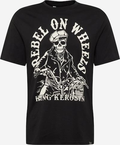 King Kerosin T-Shirt en noir / blanc, Vue avec produit