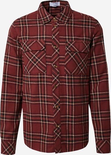 DAN FOX APPAREL Button Up Shirt 'Ryan' in Beige / Brown / Dark red, Item view