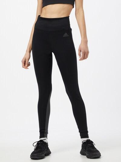 ADIDAS PERFORMANCE Sporthose in grau / schwarz: Frontalansicht