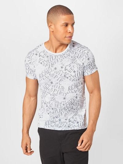 Key Largo Тениска 'INSPIRATION' в сиво / бяло: Изглед отпред