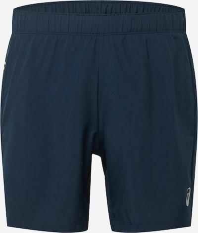 Pantaloni sport ASICS pe albastru închis / galben, Vizualizare produs