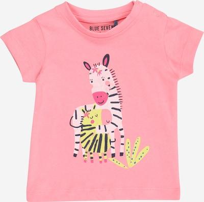 BLUE SEVEN T-Shirt in gelb / rosa / schwarz / weiß, Produktansicht