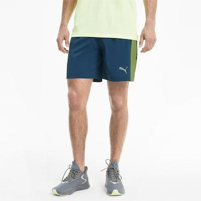 PUMA Sportbroek in de kleur Donkerblauw / Groen: Vooraanzicht