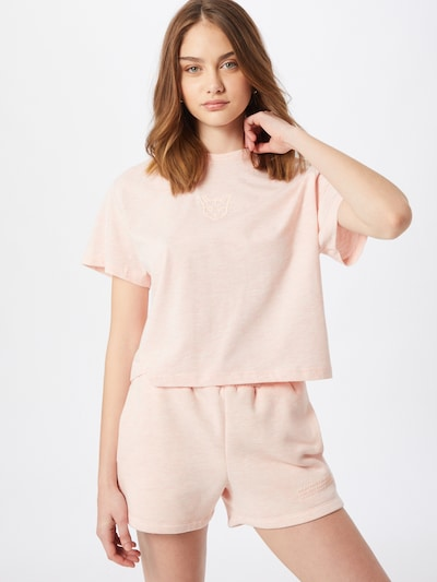 PARI Cropped Shirt in rosa, Modelansicht