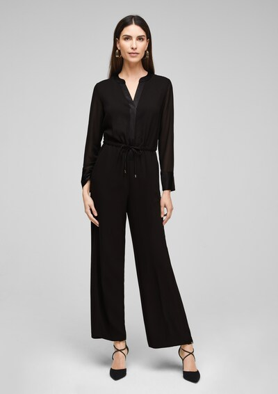 s.Oliver BLACK LABEL Jumpsuit in de kleur Zwart, Modelweergave