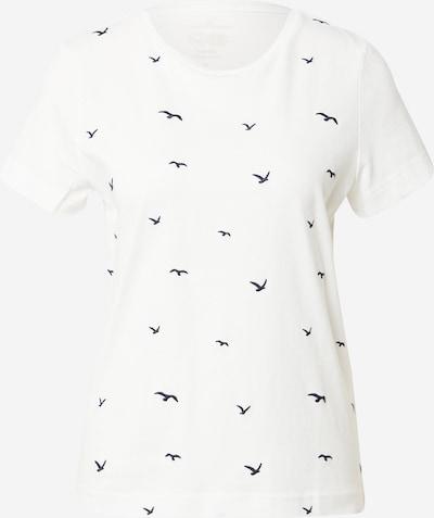 TOM TAILOR T-Shirt in nachtblau / weiß, Produktansicht