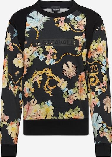 Just Cavalli Sweat-shirt en mélange de couleurs / noir, Vue avec produit