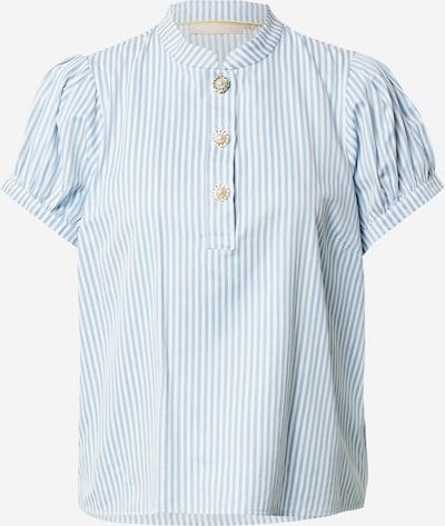 KAREN BY SIMONSEN Blouse 'Gubi' in de kleur Lichtblauw / Wit, Productweergave