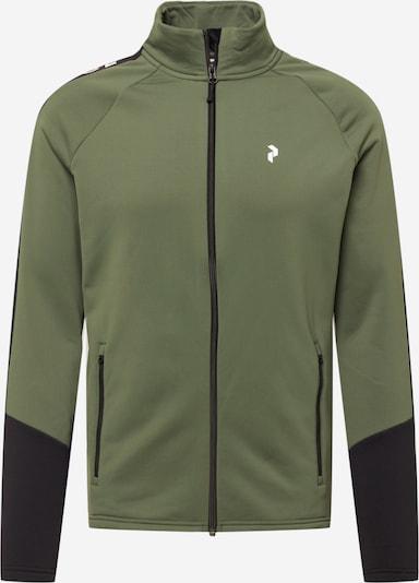 PEAK PERFORMANCE Športová mikina so zipsom 'Rider' - zelená / čierna, Produkt