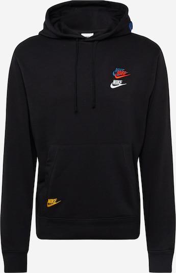 Hanorac sport Nike Sportswear pe azuriu / galben auriu / roșu / negru / alb, Vizualizare produs