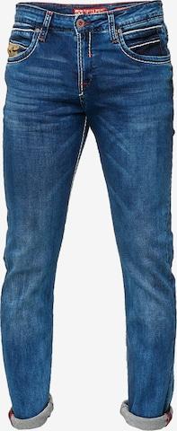 Rusty Neal Jeans  im klassischen 5-Pocket-Style in Blau