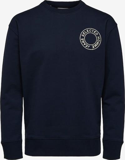 SELECTED HOMME Sweatshirt 'Logan' i beige / navy, Produktvisning