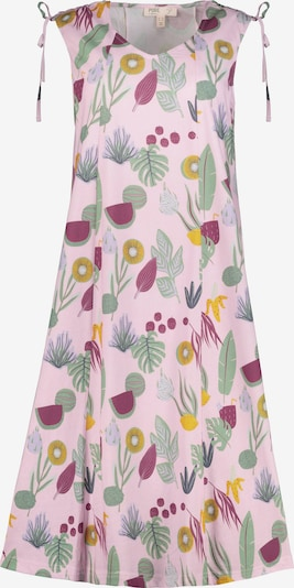 Ulla Popken Kleid in goldgelb / jade / rosa / weinrot, Produktansicht