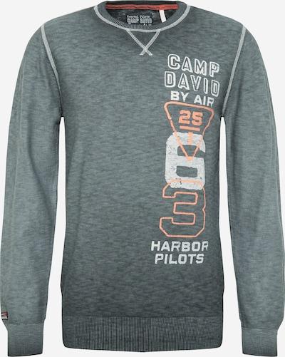 CAMP DAVID Sweatshirt in grau / lachs / weiß, Produktansicht