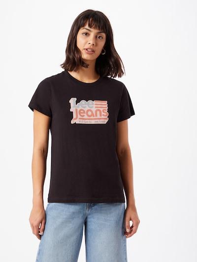 Lee Shirt in opal / pastellorange / pastellpink / schwarz: Frontalansicht