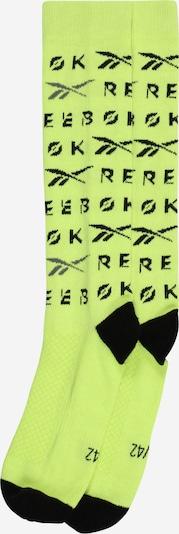 REEBOK Skarpety sportowe w kolorze neonowo-żółty / czarnym, Podgląd produktu