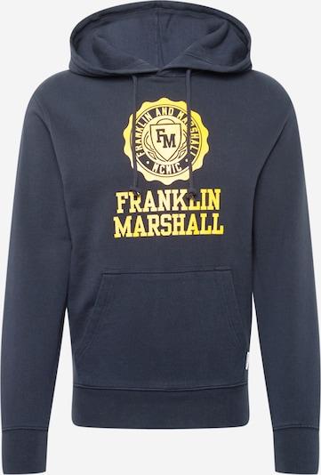 FRANKLIN & MARSHALL Sweatshirt in navy / gelb, Produktansicht