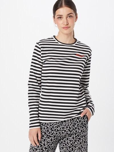 Marškinėliai 'Darcons' iš HUGO, spalva – juoda / natūrali balta: Vaizdas iš priekio