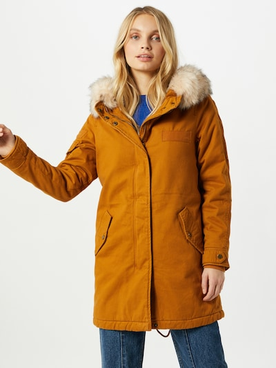 ONLY Parka 'May Life' in beige / senf: Frontalansicht