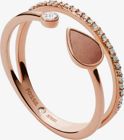 FOSSIL Ring in Rose gold / Transparent, Item view