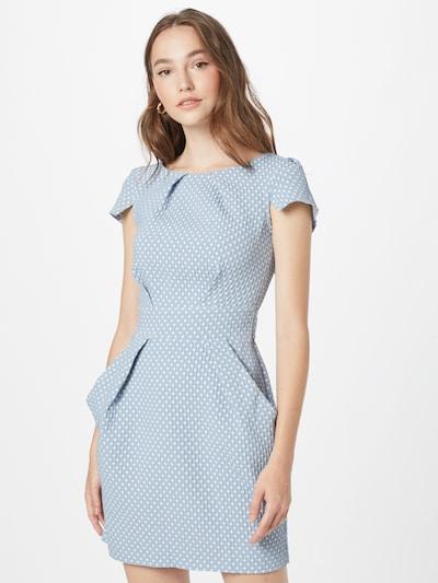 Trumpa kokteilinė suknelė iš Closet London, spalva – mėlyna / balta, Modelio vaizdas