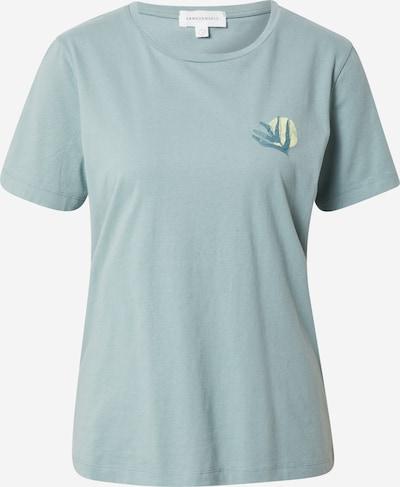 ARMEDANGELS T-shirt 'MARAA' en bleu-gris / bleu pastel / jaune clair, Vue avec produit